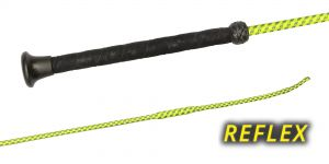 03720 REFLEX, Whips with Neon and reflecting nylon weave, UltraSoft-grip, plastic cap, wrist loop